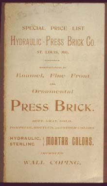 Catalog cover from the Hydraulic Press Brick Company - Used courtesy of Tom Walsh, Masonry Institute of St. Louis