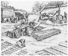 Pioneer brickmaking in Indiana - Used courtesy of Indiana University Library