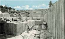 Quarry scene in Georgia - One of many interesting images from the Stone Quarries and Beyond website at http://freepages.history.rootsweb.com/~quarries/